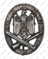 General Assault Badge - silver - Antique Finish
