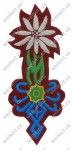 Mountain school badge - II RP (1918-1939) - Polish army in the interwar period - burgundy underlay