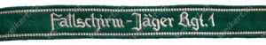 Armband - (armelbande) - LUFTWAFFE - Fallschirmjager Rgt. 1 - officers version