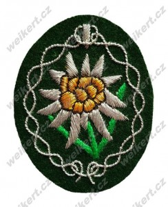 Alpine units officer's edelweiss / Gebirgsjäger WH