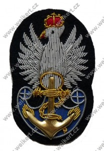 Boatswain's Polish Navy cap eagle - the Polish Armed Forces in the West - Late model